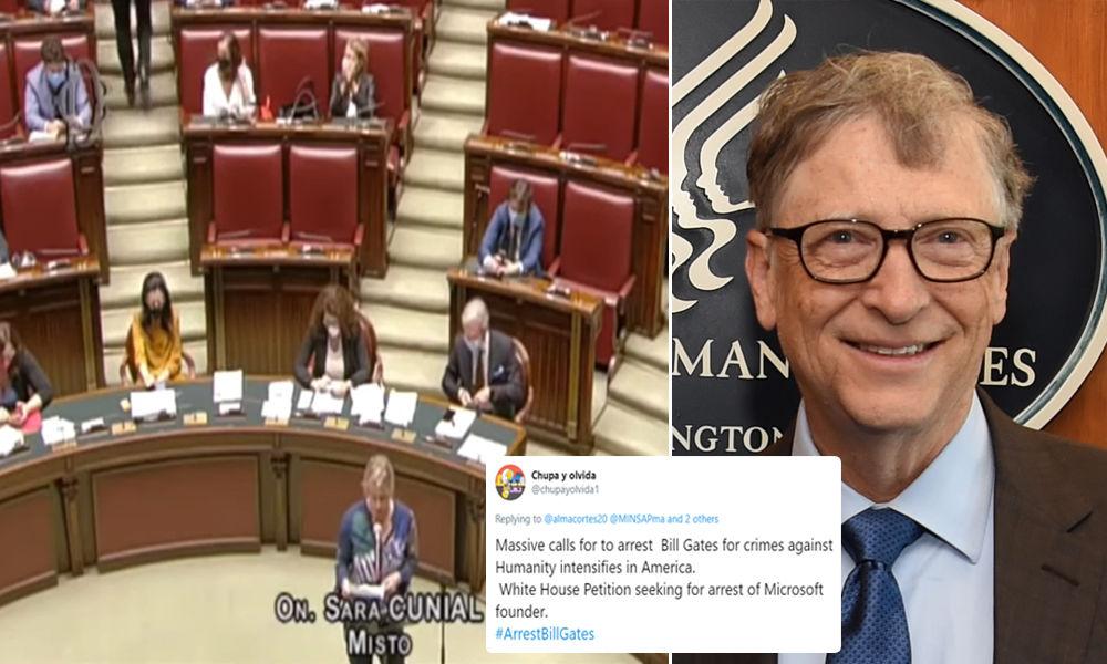 Member of Italian Parliament Calls for Bill Gates' Arrest