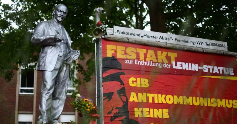 Lenin Statue Erected in Germany as Founding Fathers Statues Toppled in West