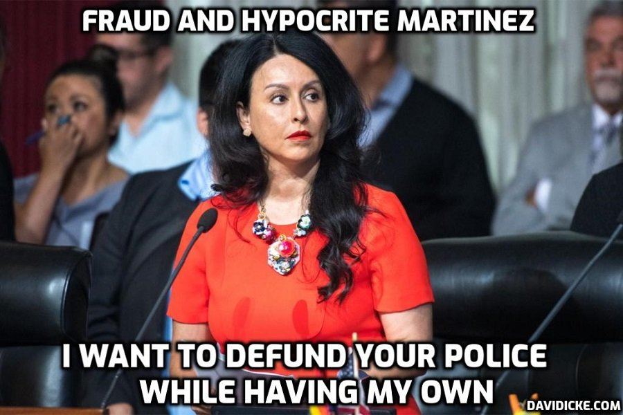 LA City Council President Nury Martinez calls for defunding the police while having her own police protection detail at taxpayers expense – they are laughing at you