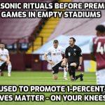 Black Lives Matter: Premier League show support by taking a knee upon restart