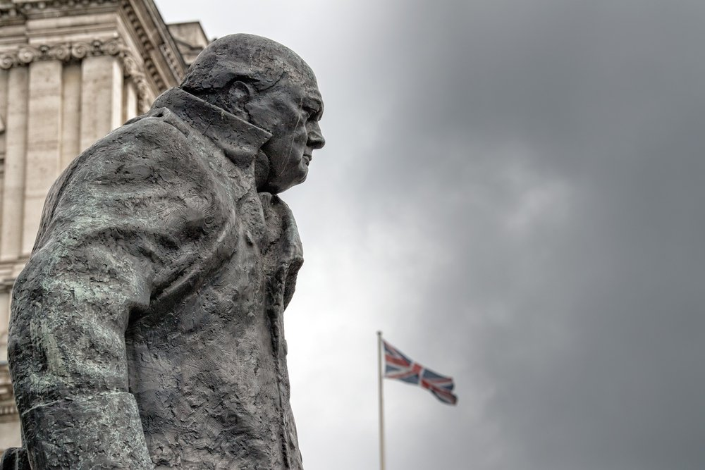 Churchill statue 'may have to be put in museum', says granddaughter