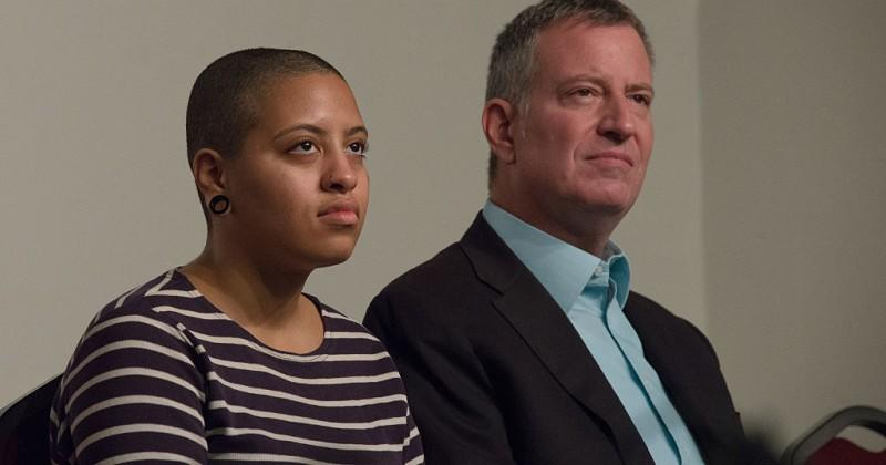 """De Blasio's Daughter In Verbal Slip Up, Claims Biden """"Was Able To Steal"""" Election"""