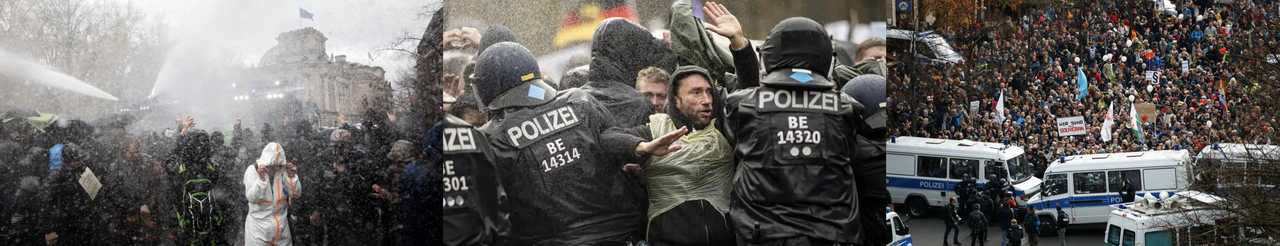 """""""We Are The People"""" – German Protesters Clash With Police Over New Coronavirus Restrictions"""