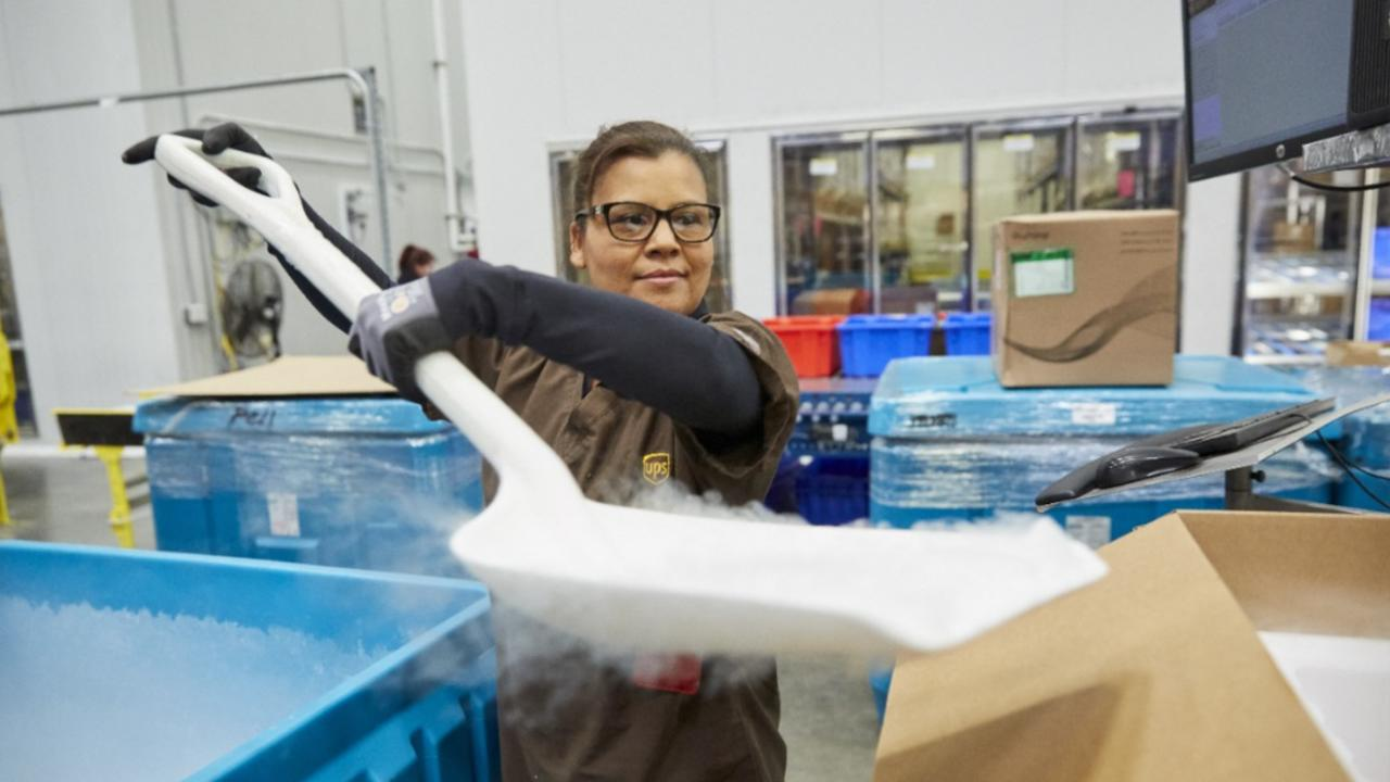UPS Expands Dry Ice Production Ahead Of Vaccine Distribution