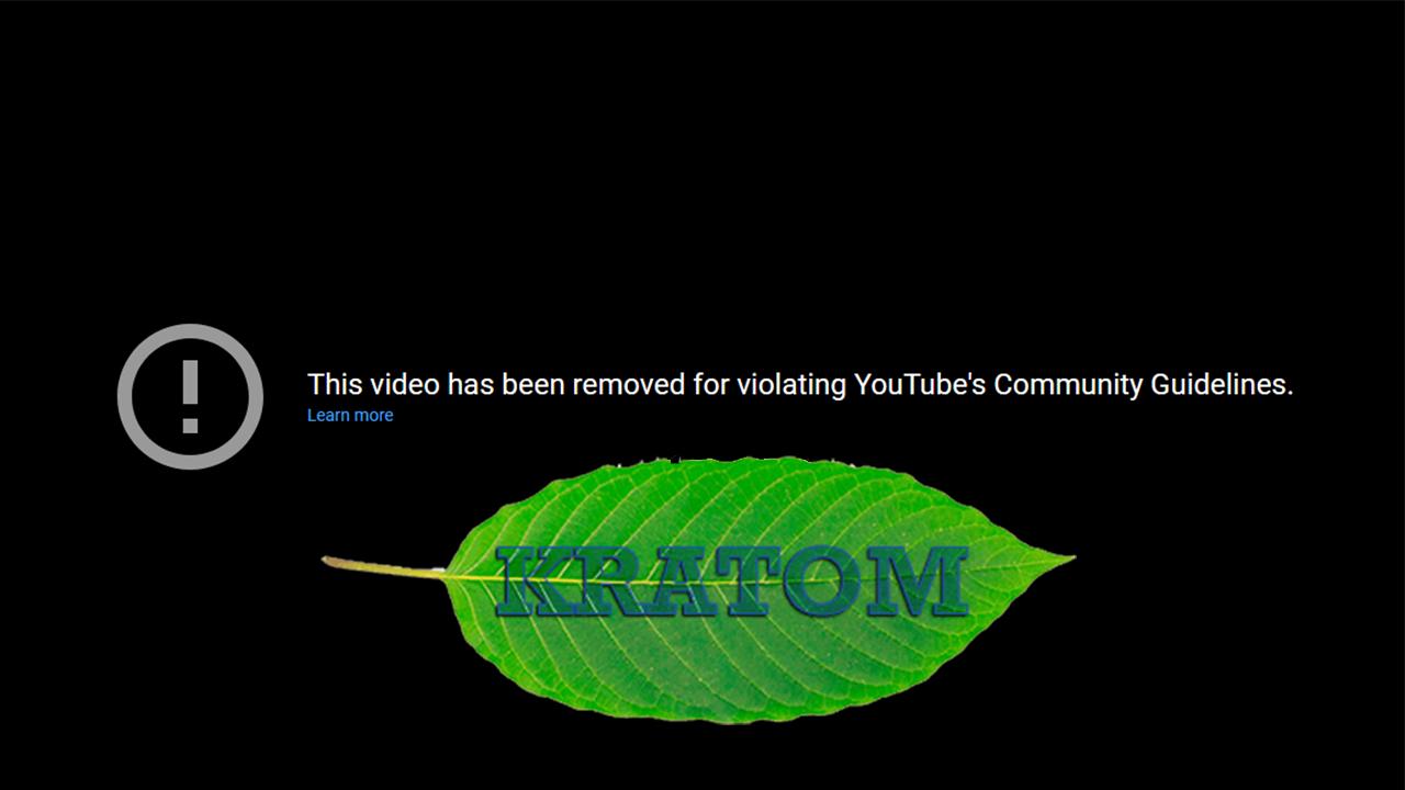 "Big Tech Censoring Educational Videos on Kratom, Labeling Them ""Dangerous or Harmful Content"""