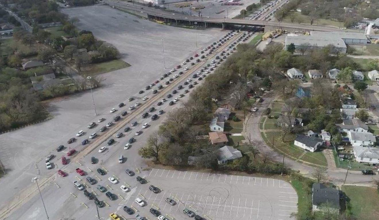 """""""Largest Distribution Ever"""" – Thousands Of Cars Lined Up At Texas Food Bank"""