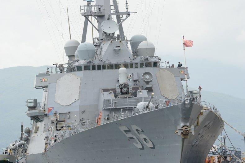 Rare Footage Shows Russian Warship 'Chasing' US Destroyer In Border Incident