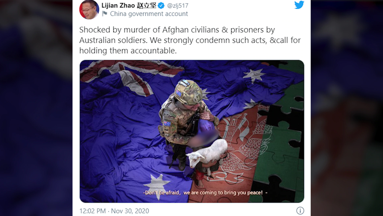"China Trolls Australia With ""Repugnant"" Doctored Image, Refuses To Apologize"