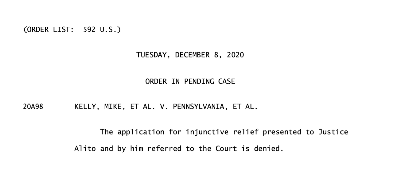 Louisiana Joins Texas In Motion Against GA, MI, PA, & WI After SCOTUS Denies Emergency Injunctive Relief In PA Case