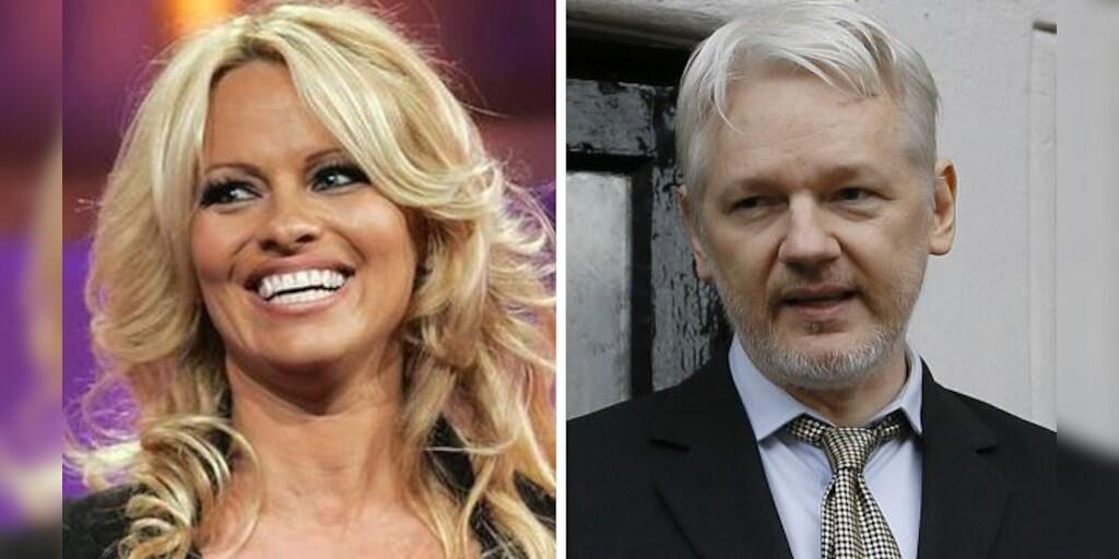 Pamela Anderson Tags Trump In Racy Photo Post Urging Pardon For Julian Assange