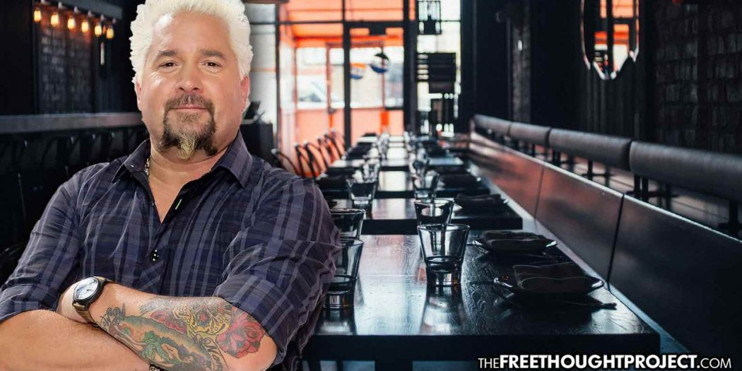 """As Gov't Shuts Down Restaurants, Guy Fieri Raises $21.5 Million for Workers """"Doing More than Congress"""""""