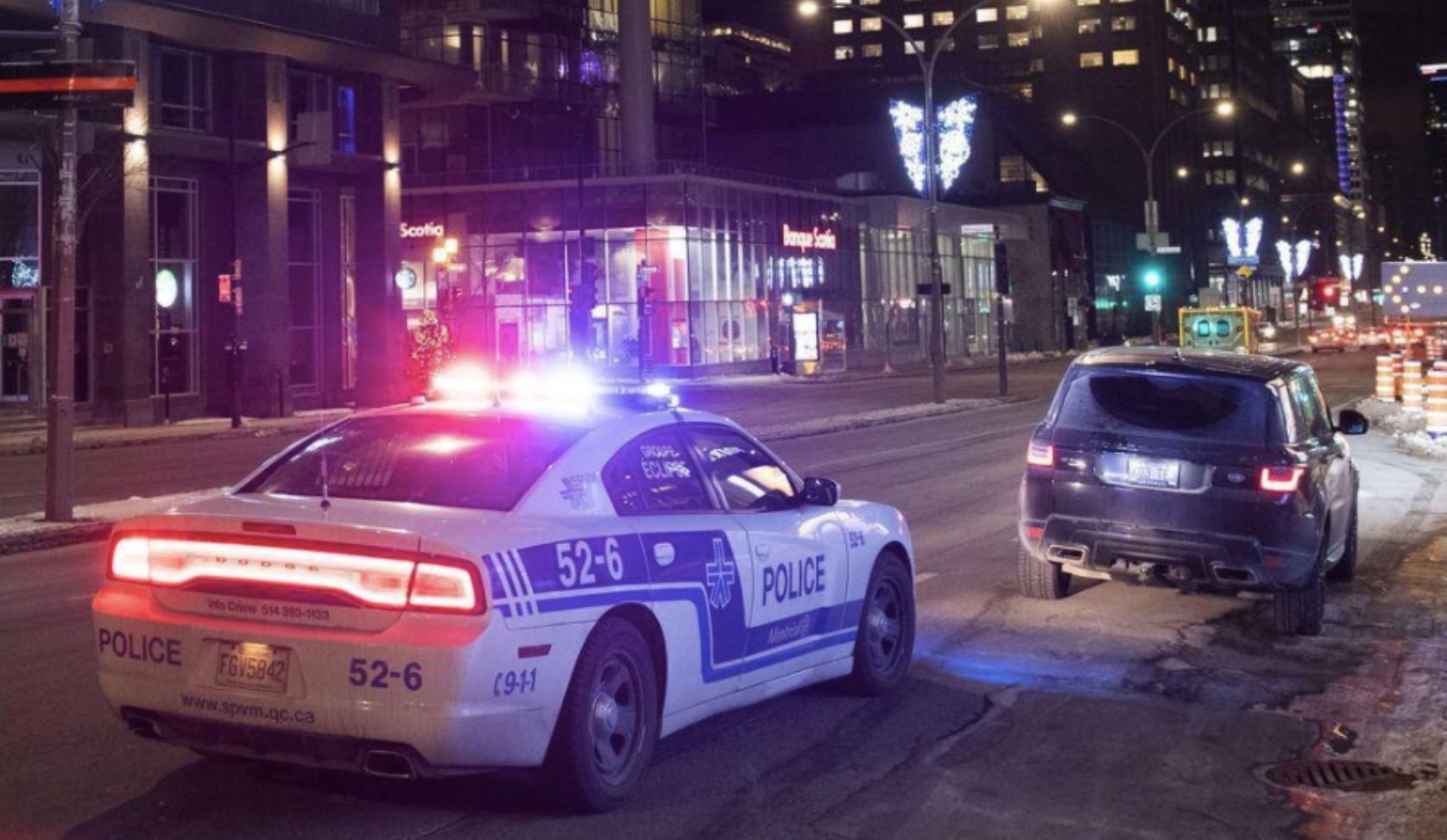 Sirens, Checkpoints, Protests: Scenes From Quebec's First Night of Curfew