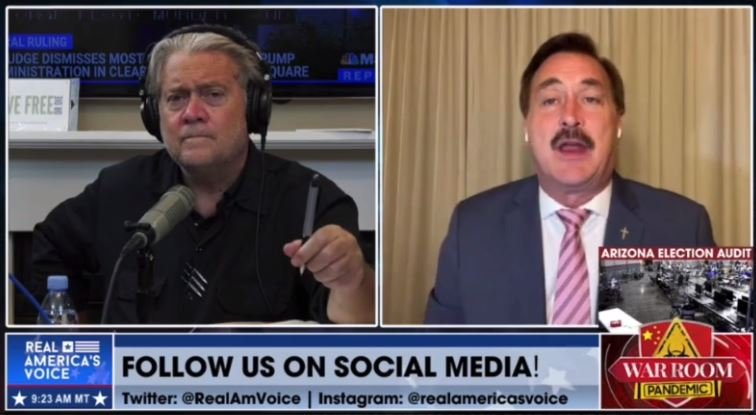 Steve Bannon and Mike Lindell Go Off on Crooked RNC for Poaching $50 MILLION in Cash from Donors and then Ignoring Voting Fraud (VIDEO)
