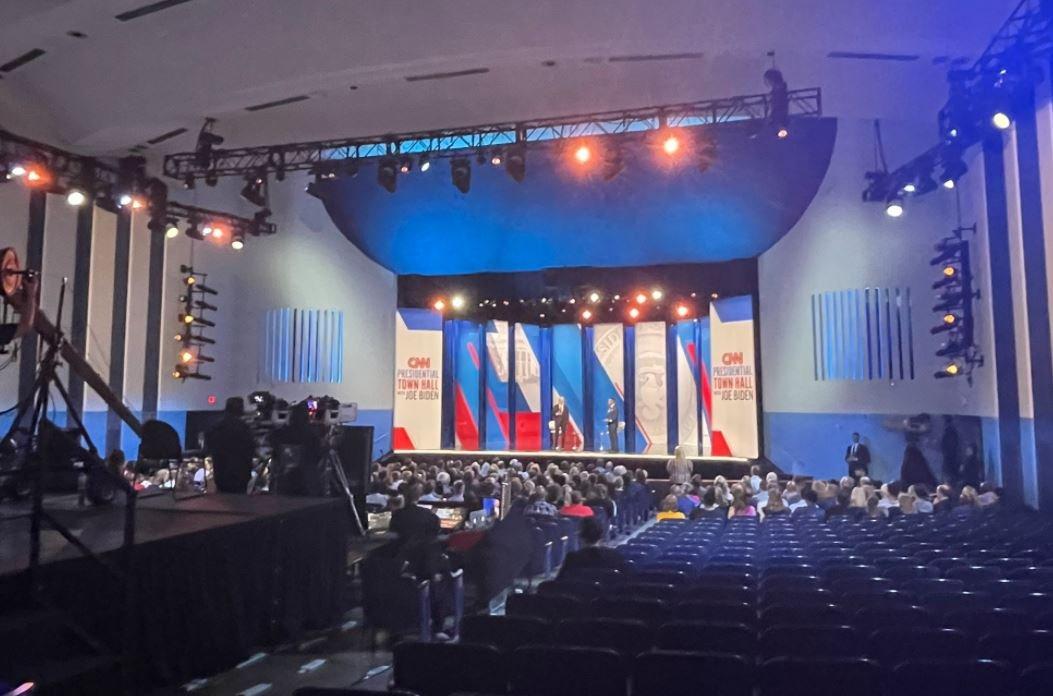 Check Out the Crowd at Joe Biden's CNN Town Hall
