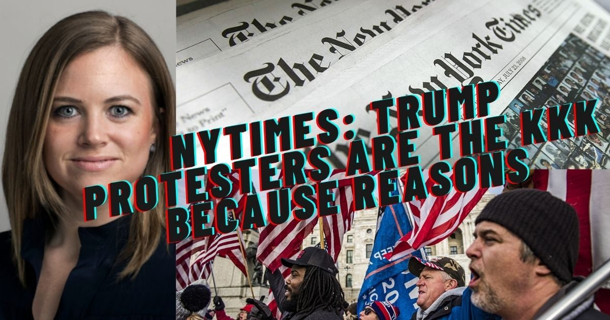NYTimes Smears Capitol Protesters with Half-Baked Adjunct's Lazy Opinions that they're the KKK